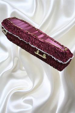 Гробы обитые тканью